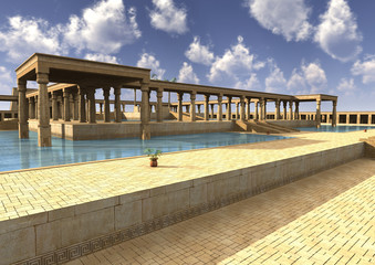 3D Illustration Egyptian Palace