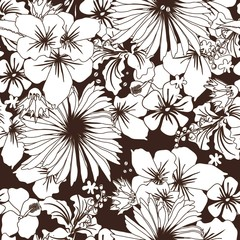 Seamless floral ornament. Lovely simple flowers. Floral vintage pattern for textiles, wallpapers, gift wrapping.