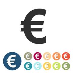 Button-Set bunt - Euro Geld