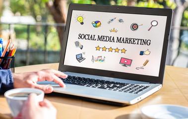 Social Media Marketing Concept On Computer Screen