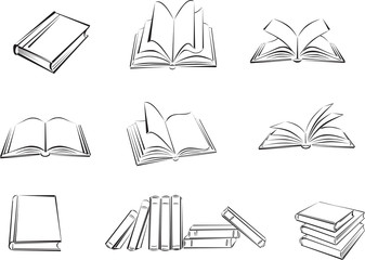 book, textbook, library, literature, page, drawing, symbol