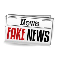 Fake News Newspaper. Eps10 Vector.