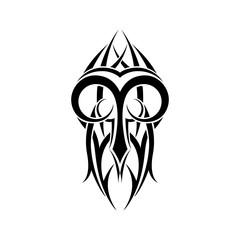 Aries zodiac. Abstract tribal tattoo design.