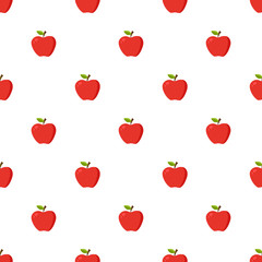 Red apples pattern seamless