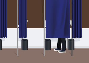 élection - isoloir - voter, démocratie - présidentielle - référendum