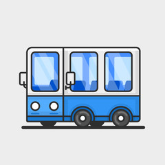 Modern bus icon. Flat design.