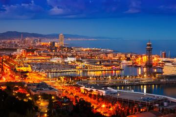 Autocollant pour porte Barcelona Barcelona in evening. Spain