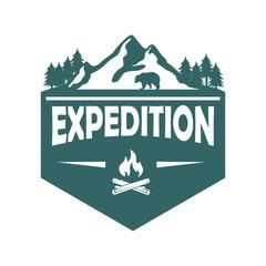 Adventure and outdoor logo vector