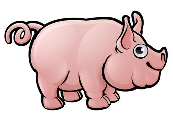 Pig Farm Animals Cartoon Character