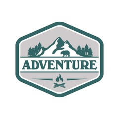 Adventure and outdoor logo vector