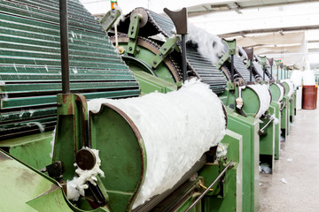 Carding machine for textile mill