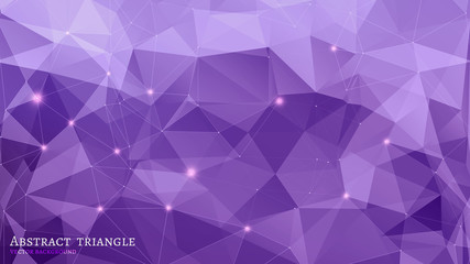 Abstract Triangle Geometrical purple Background