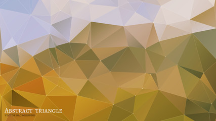 Abstract  gold Triangle Geometrical Multicolored Background
