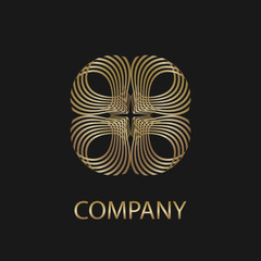Abstract business logo. Universal creative symbol. Logo design vector template.