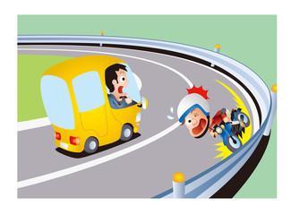 自動二輪の交通安全、バイクのコーナー事故