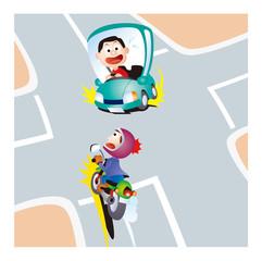 自動二輪の交通安全、右折車と直進バイク