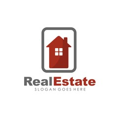 Real estate, house, building and property logo for logotype and template