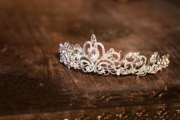 Wedding crown tiara diadem. Luxury accessories
