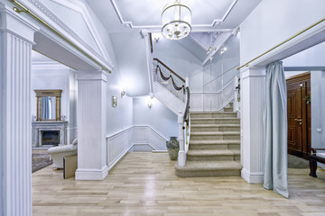 Design of stairs in a rich house.