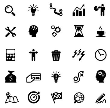 Icons Business and Creativity