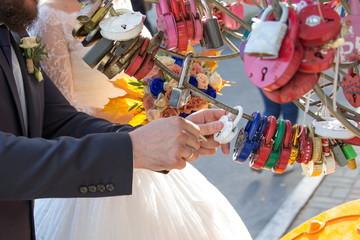 Wedding beautiful padlock traditional Love and happiness
