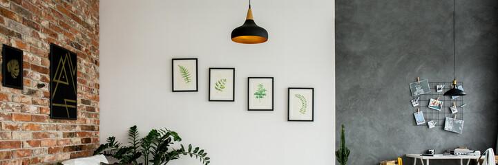 Walls in botanic living room