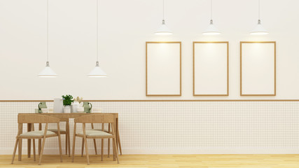 Dining room and frame for artwork - 3D Rendering