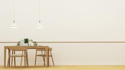 Dining room or restaurant - 3D Rendering