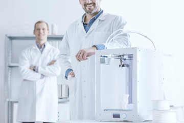Laboratory with 3D printer