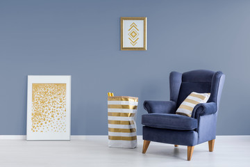 Blue and golden room