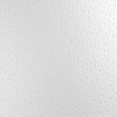 Water droplets on frosted glass, close-up, realistic 3D rendering