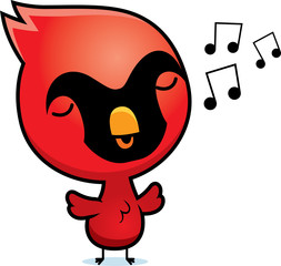 Cartoon Cardinal Singing