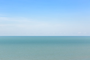 Beautiful sea view with blue sea and nice clear sky