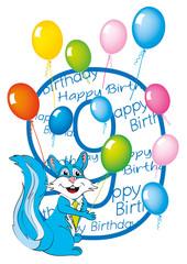 buon compleanno bambino numero 9 con scoiattolo