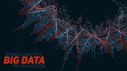 Fotoväggar - Big data circular visualization. Futuristic infographic. Information aesthetic design. Visual data complexity. Complex data threads graphic visualization. Social network representation. Abstract graph