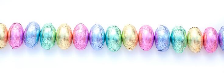 pastel chocolate eggs