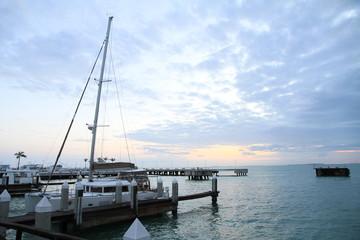 Bateau dans la mer de Key West, Florida