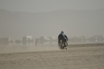 Dust at land speed races
