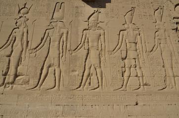 Wandrelief an der Außenwand, Tempel von Dendera