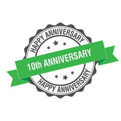 10th anniversary stamp illustration