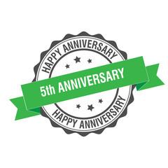 5th anniversary stamp illustration
