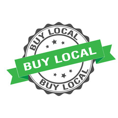 Buy local stamp illustration