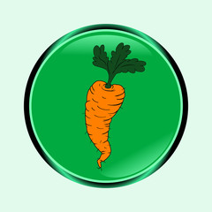 Icon of carrots. Fresh vegetables. Abstract illustration.