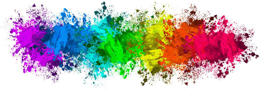 Multi-Color Paint Splatter Border/Background