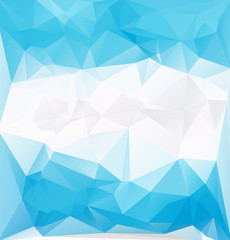 blue frozen low polygonal vector