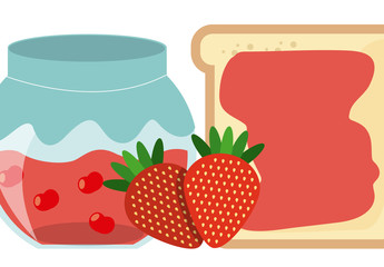 Toast and Strawberry Jam Infographic