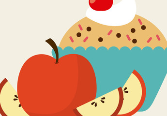 Fruit and Dessert Infographic