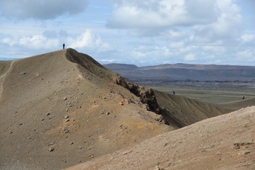Wandern an der Viti, Krafla, Island