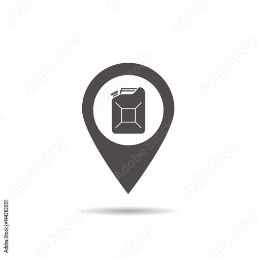Nearby Gas Station Location Glyph Icon Stock Image And Royalty Free