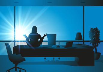 bureau - méditation - zen - détente - relax - décontracté
